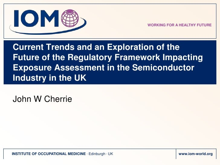 Health and safety regulatory trends in the UK semiconductor industry