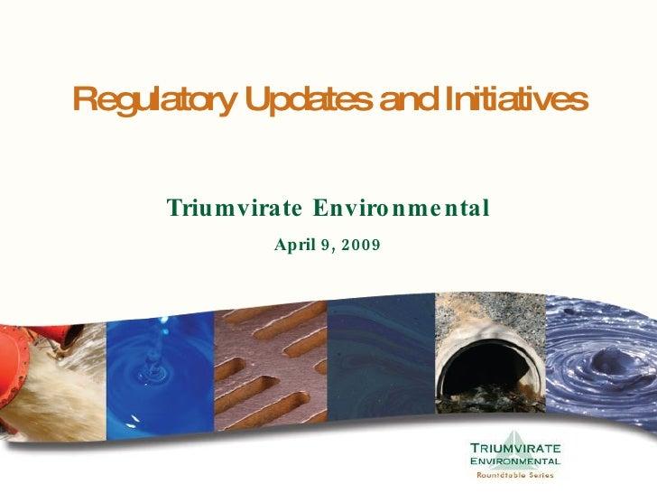 Regulatory Updates and Initiatives