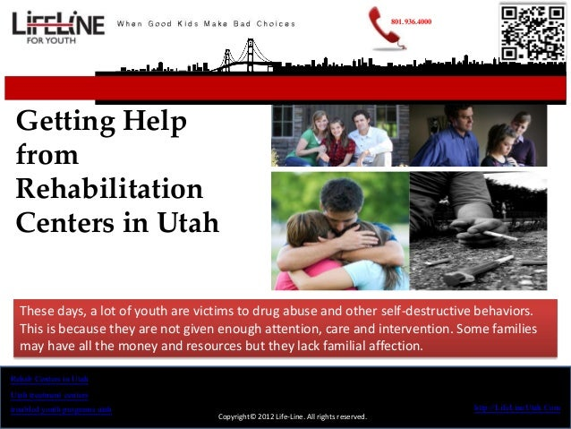 801.936.4000 Getting Help from Rehabilitation Centers in Utah  These days, a lot of youth are victims to drug abuse and ot...