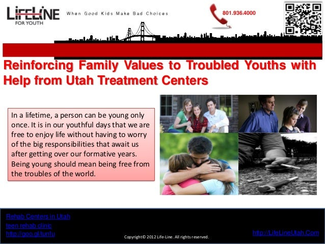 801.936.4000Reinforcing Family Values to Troubled Youths withHelp from Utah Treatment Centers In a lifetime, a person can ...