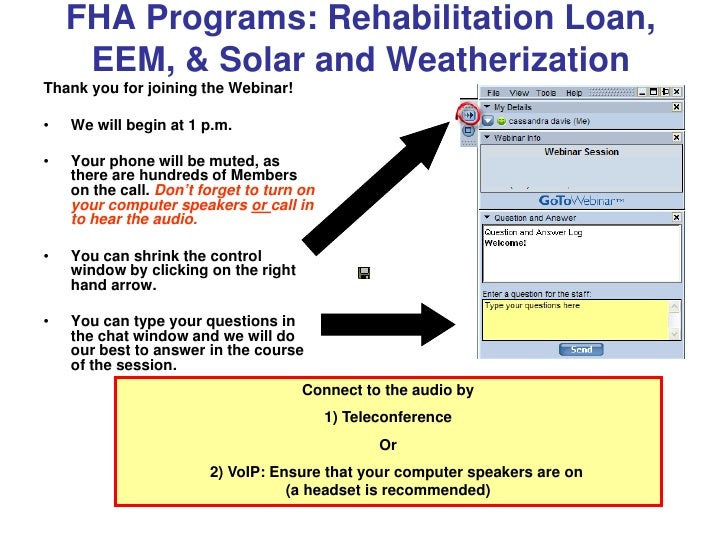 Rehab eem weatherization other repairs dec 2010