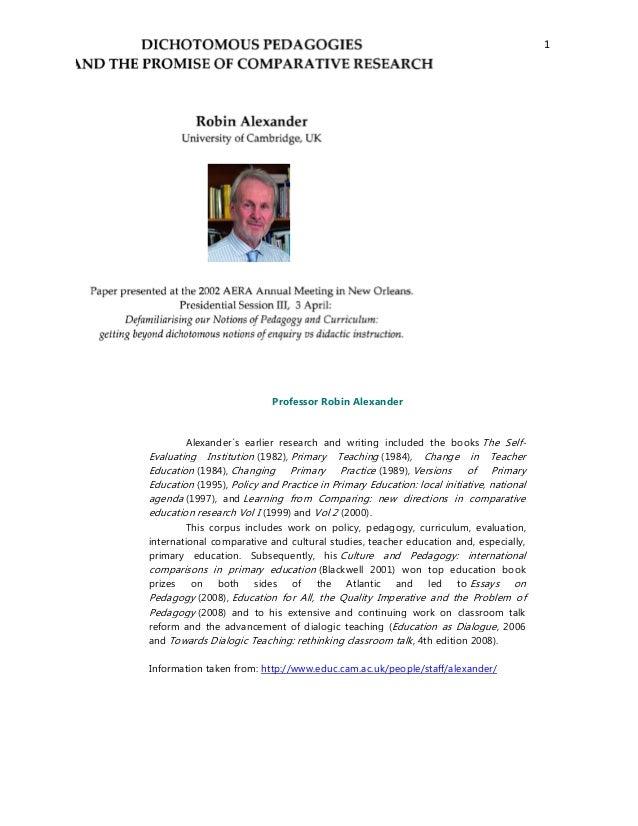 Rehash dichotomous pedagogy II