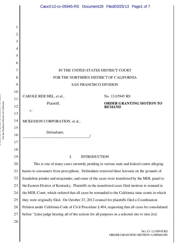 Case3:12-cv-05945-RS Document28 Filed03/25/13 Page1 of 7                                                                  ...
