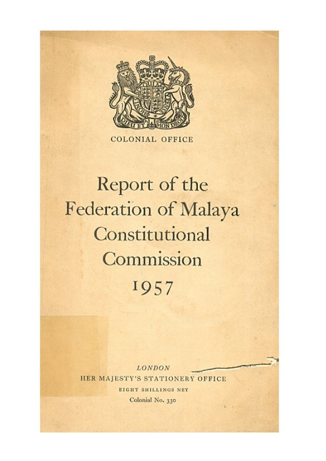 The Reid Commission Report 1957                                                                                           ...