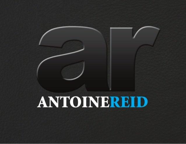 Antoine Reid - Design Portfolio & Resume 2010 (Version 2)