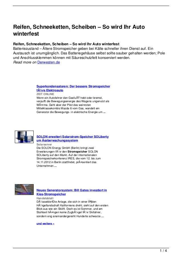 Reifen, Schneeketten, Scheiben – So wird Ihr AutowinterfestReifen, Schneeketten, Scheiben – So wird Ihr Auto winterfestBat...