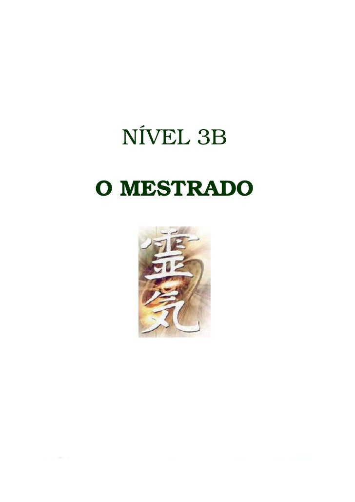NÍVEL 3B  O MESTRADO