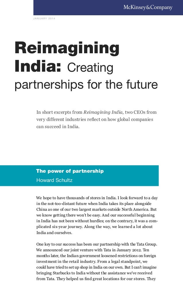 Reimagining India Creating Partnerships for The Future