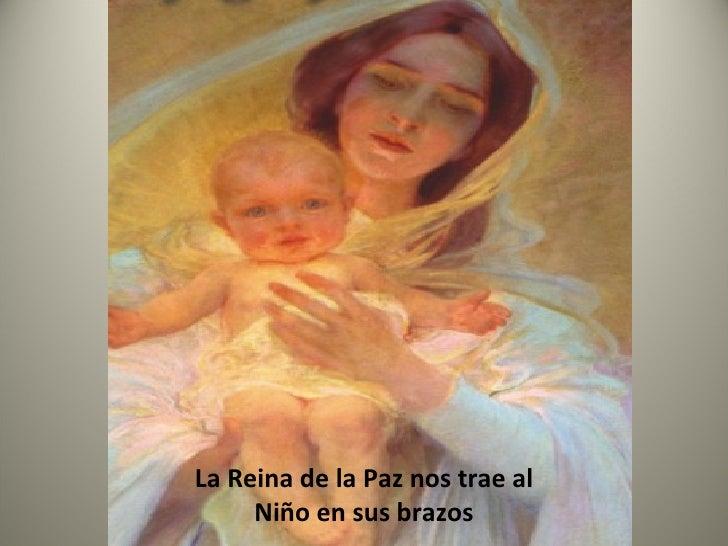 La Reina de la Paz nos trae al Niño en sus brazos
