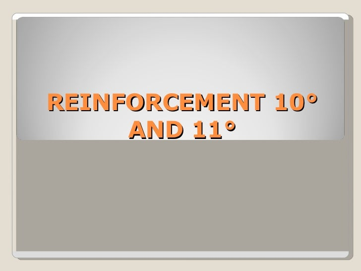 REINFORCEMENT 10° AND 11°