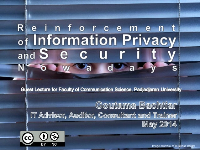 Reinforcement of Information Privacy and Security Nowadays