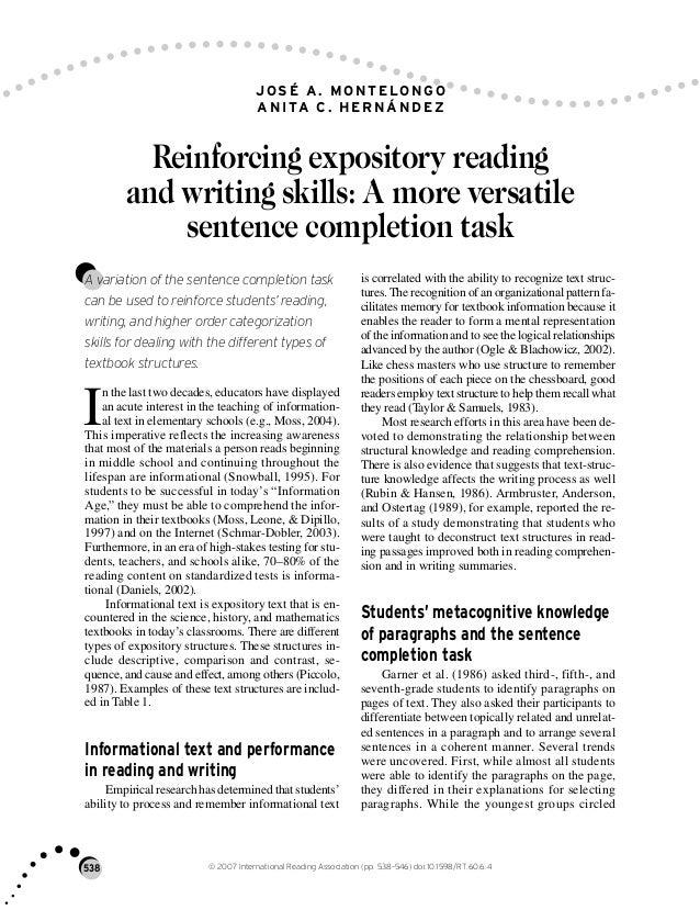 expository writing skills