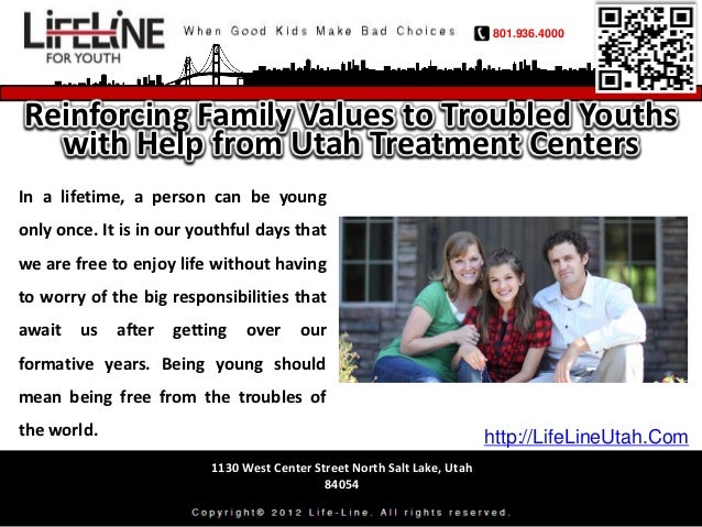 Reinforcing family values to troubled youths with help from utah treatment centers