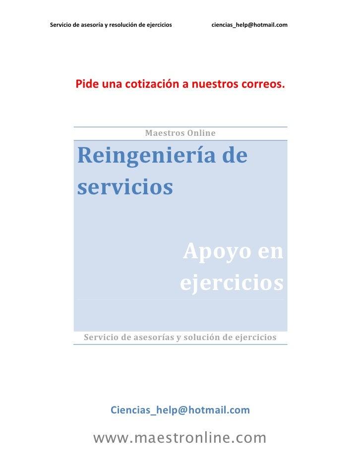 Reingenieria de servicios