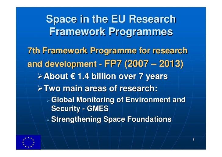 Framework Research Programme Framework Programmes 7th