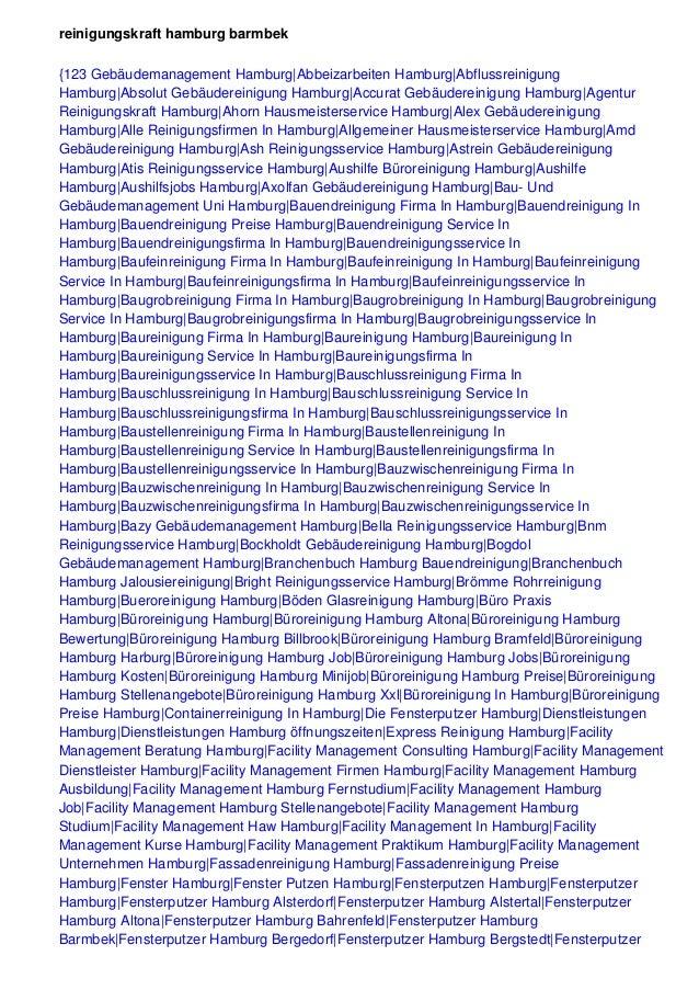 reinigungskraft hamburg barmbek {123 Gebäudemanagement Hamburg|Abbeizarbeiten Hamburg|Abflussreinigung Hamburg|Absolut Geb...