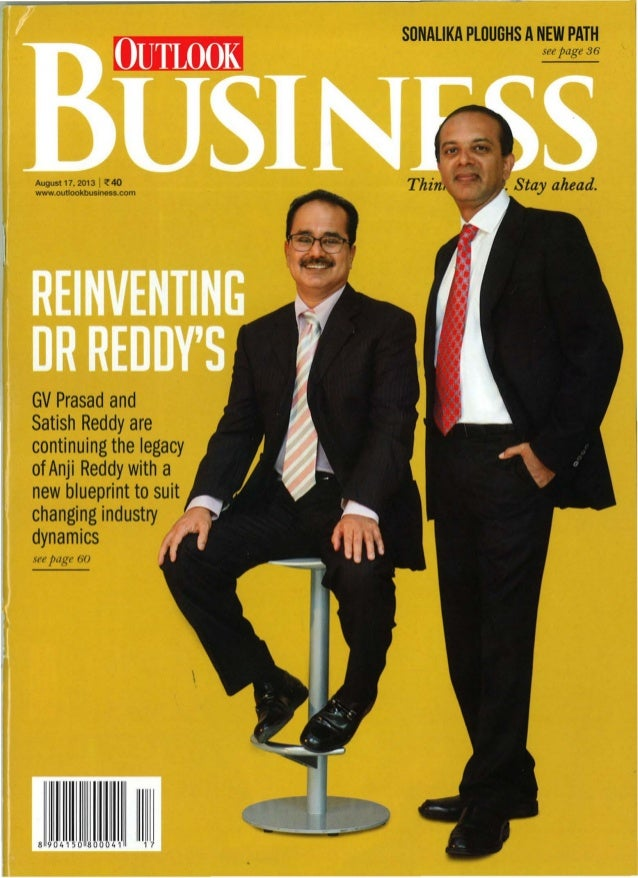 SONALIKA PLOUGHS ANEW PATH see page 36  Augusl17, 2013 I ~ 40 www.ouUookbusiness.com I a GV Prasad and Satish Reddy are co...