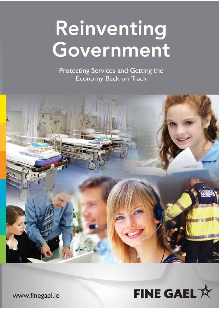 Foreword by Enda Kenny TDOur system of Government is broken. It has failed the public it is designed to serveand it is fai...