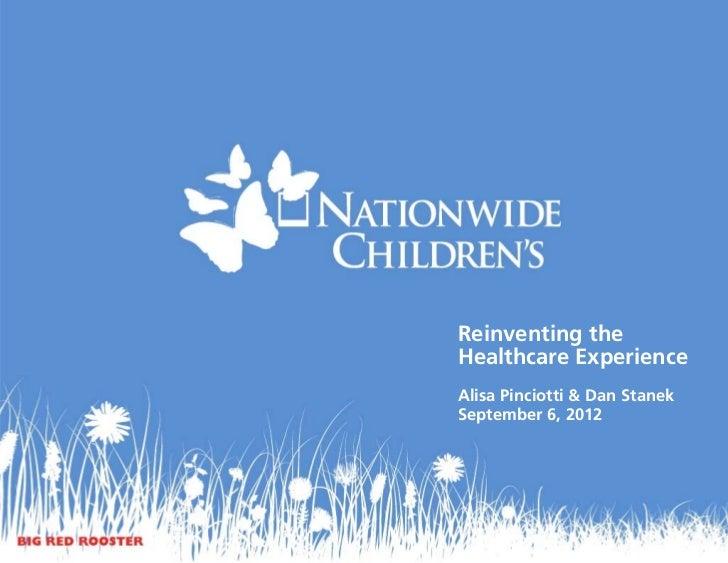 Reinventing theHealthcare ExperienceAlisa Pinciotti & Dan StanekSeptember 6, 2012