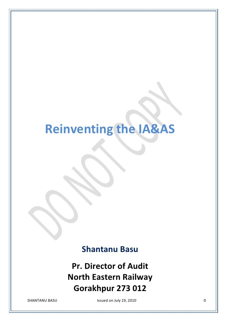 Reinventing the Indian Audit & Accounts Service