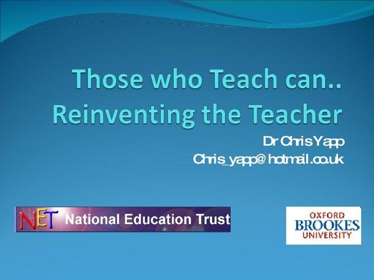Dr Chris Yapp [email_address]