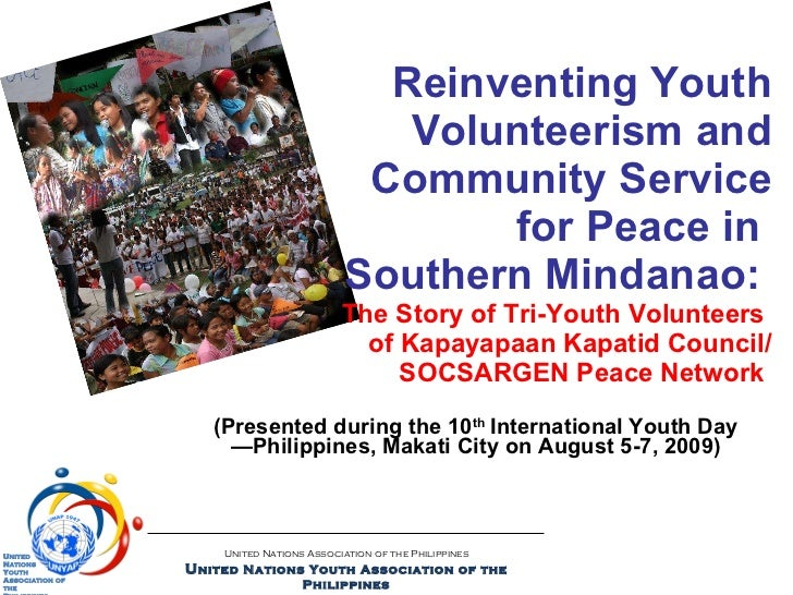 Reinventing youth volunteerism and community service for peace