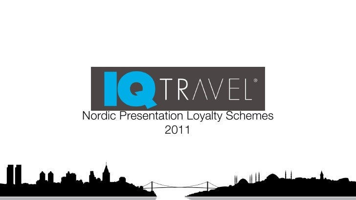 Reiseliv nordic presentation 01.10.2011
