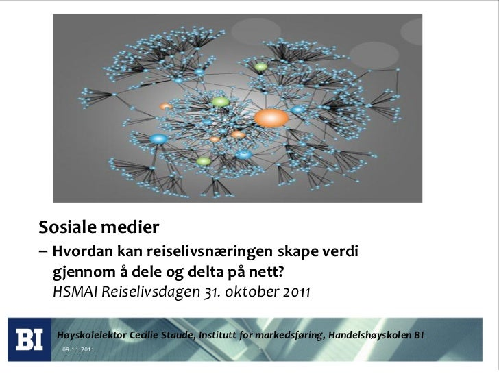 Reiselivsdagen 31102011 presentasjon av cecilie staude
