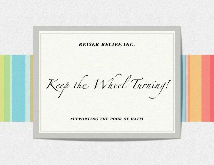 Reiser Relief Haiti Booklet