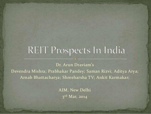 REIT in india