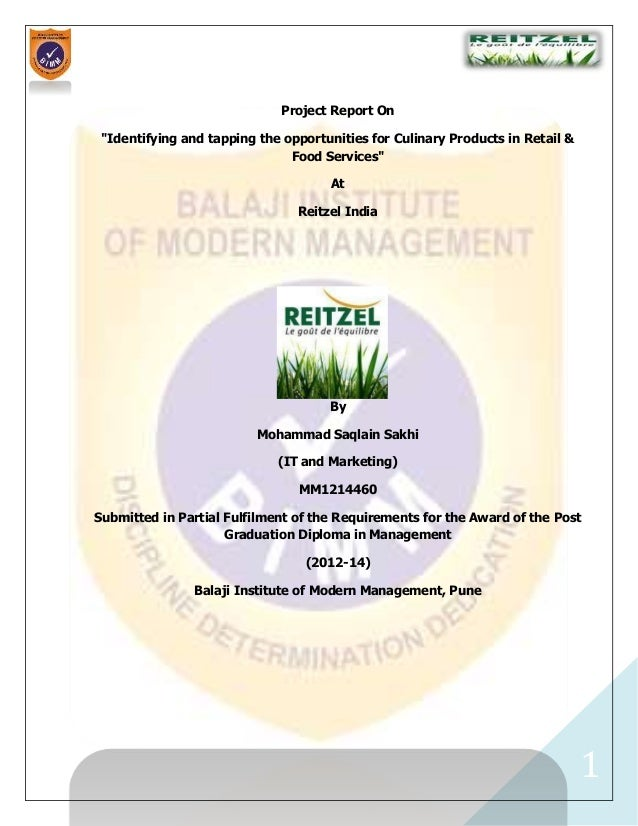 Reitzel India Project Report