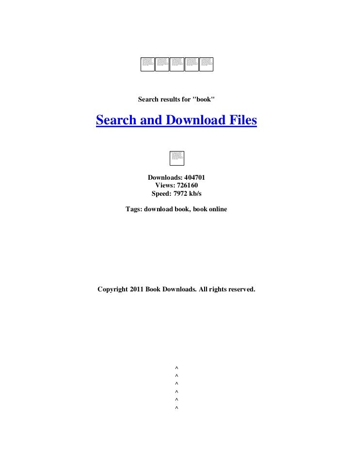"""Search results for """"book""""Search and Download Files                Downloads: 404701                  Views: 726160        ..."""