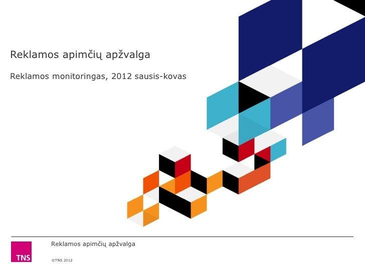 Reklamos apimčių apžvalga 201201 03