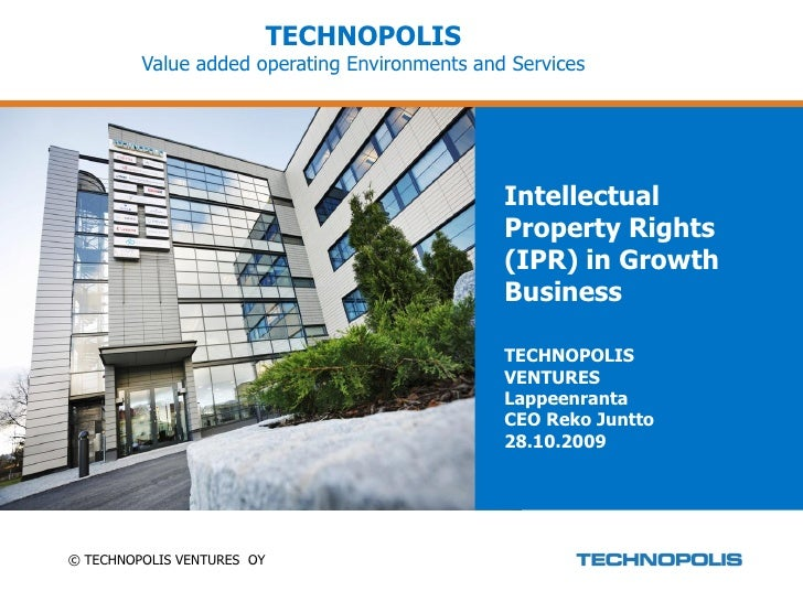 TECHNOPOLIS          Value added operating Environments and Services                                                    In...