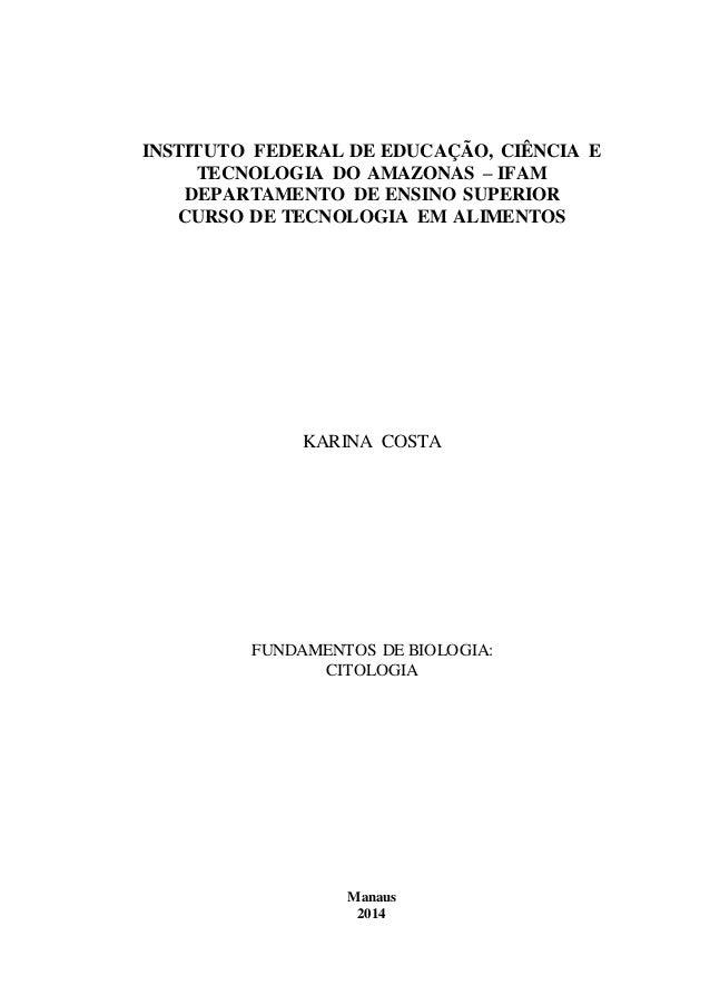 INSTITUTO FEDERAL DE EDUCAÇÃO, CIÊNCIA E  TECNOLOGIA DO AMAZONAS – IFAM  DEPARTAMENTO DE ENSINO SUPERIOR  CURSO DE TECNOLO...