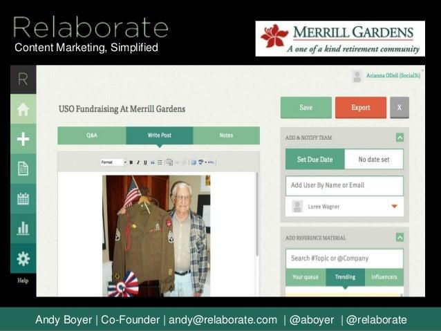 Merrill Gardens - A Relaborate Case Study