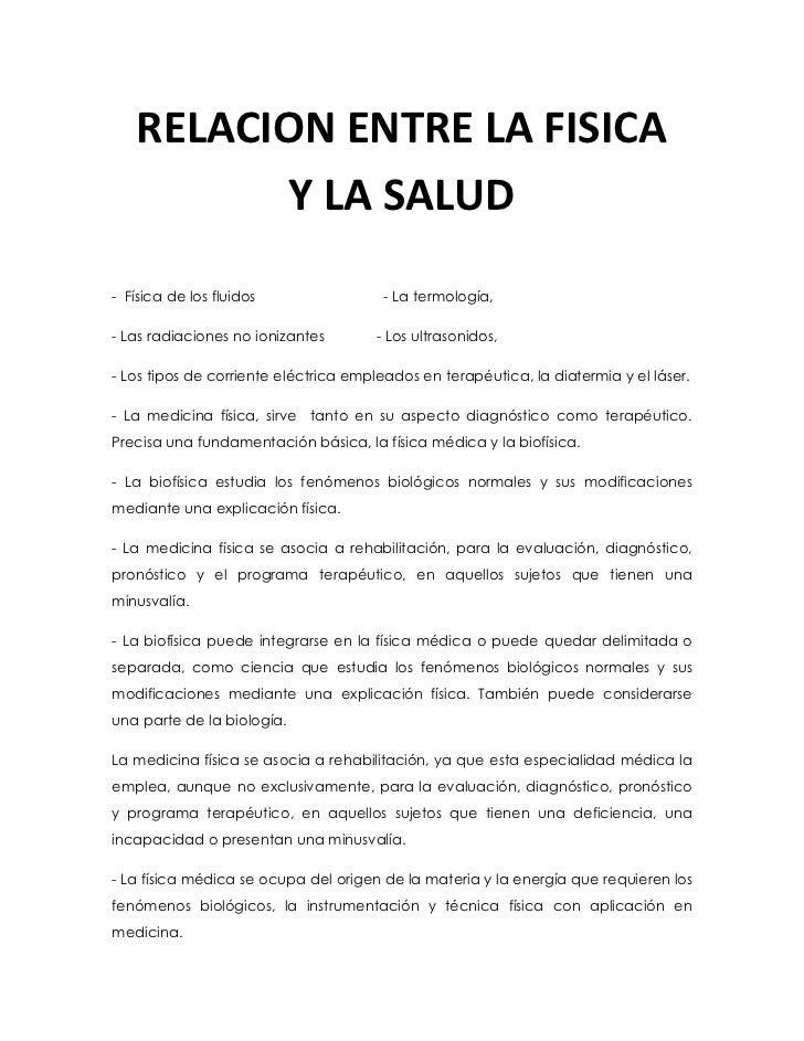 -38101905RELACION ENTRE LA FISICA Y LA SALUD0RELACION ENTRE LA FISICA Y LA SALUD<br />-  Física de los fluidos            ...