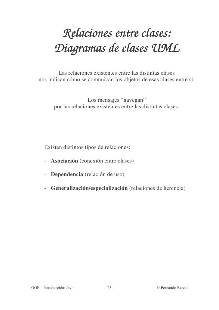 Relaciones entre clases:              Diagramas de clases UML             Las relaciones existentes entre las distintas cl...