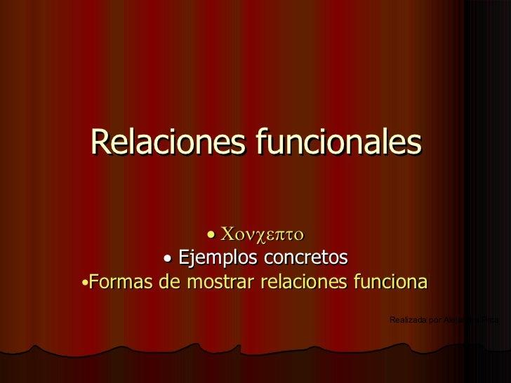 Relaciones Funcionales