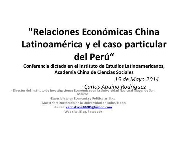 Relaciones economicas china latinoamerica