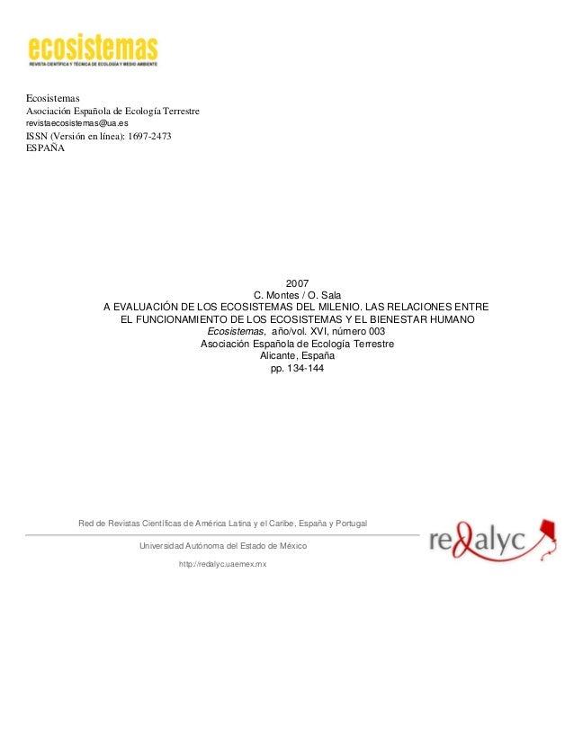 EcosistemasAsociación Española de Ecología Terrestrerevistaecosistemas@ua.esISSN (Versión en línea): 1697-2473ESPAÑA2007C....