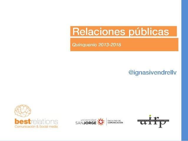 Relaciones publicas 2013 2018