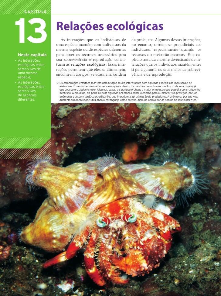 Capítulo        13 Neste capítulo                                      Relações ecológicas                                ...