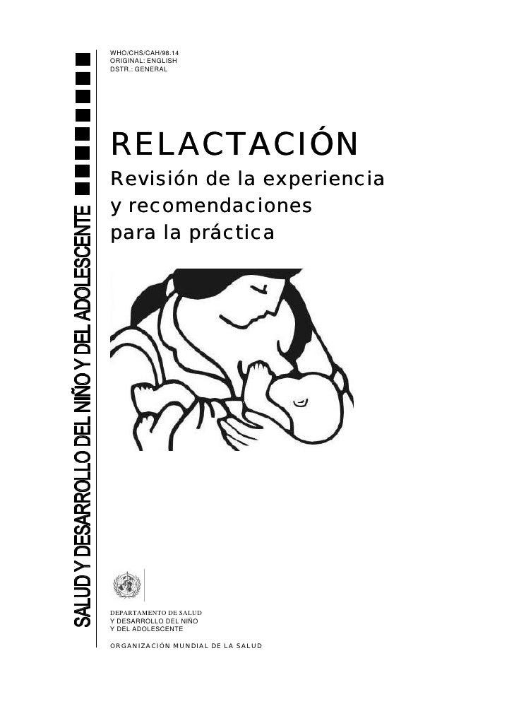 RelactacióN RevisióN De La Experiencia Y Recomendaciones Para La PráCtica
