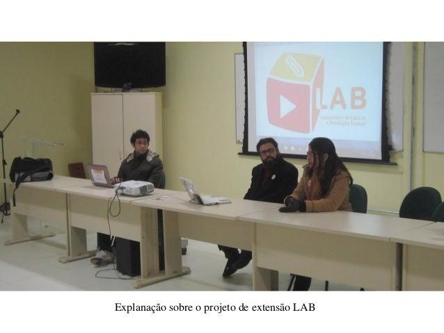 Explanação sobre o projeto de extensão LAB