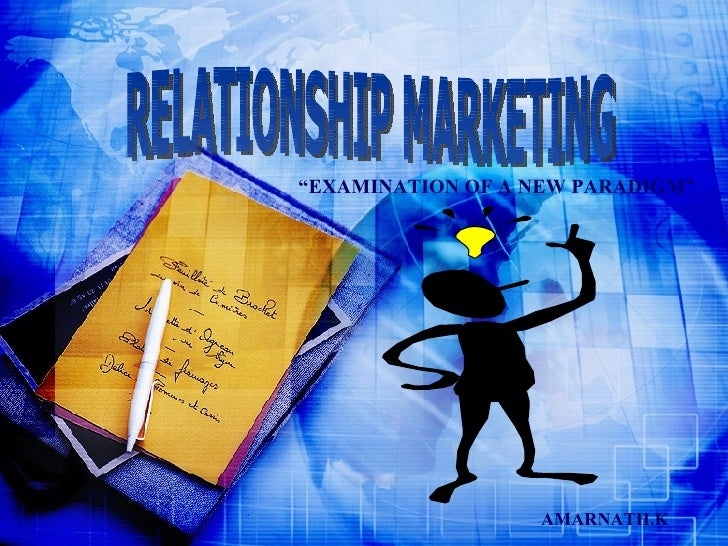 RELANTIONSHIP MARKETING As A TOOL