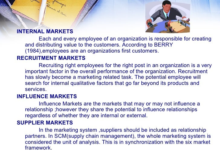 Can someone explain what internal markets are?