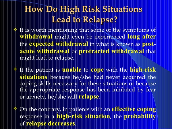 High Risk Situations For Relapse Worksheet Worksheets For School ...