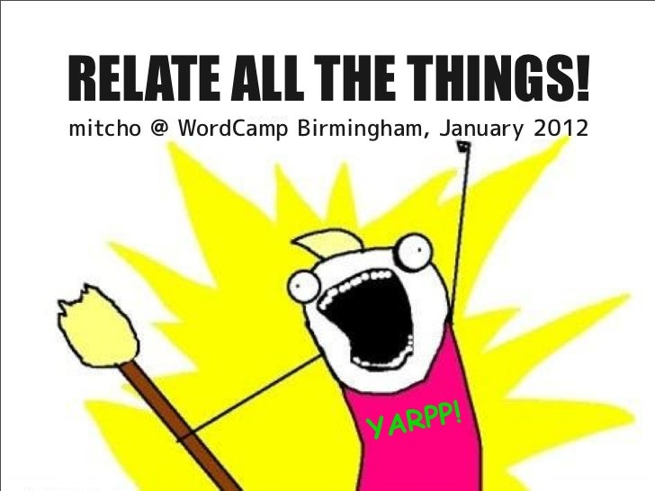 RELATE ALL THE THINGS!mitcho @ WordCamp Birmingham, January 2012                        YA RPP!