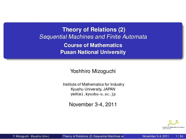 Theory of Relations (2)